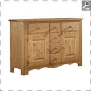 bahut bas 2 portes et 6 tiroirs boutique c t campagne. Black Bedroom Furniture Sets. Home Design Ideas
